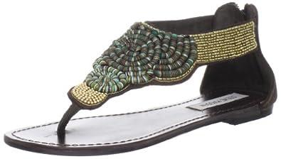 Steve Madden Women's Pharroh Thong Sandal,Brown Multi,6.5 M US