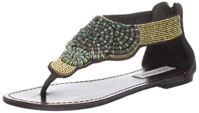 Steve Madden Women's Pharroh Thong Sandal,Brown Multi,5.5 M US