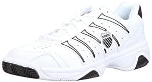 K-Swiss Men's Grancourt II White/Black/Black Lace Up 02648-153-M 9.5 UK