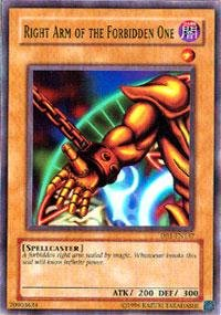 Yu-Gi-Oh! - Right Arm Of The Forbidden One (Db1-En137) - Dark Beginnings 1 - Unlimited Edition - Common front-982642