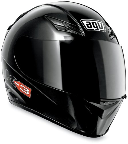 AGV K3 Full Face Motorcycle Helmet (Matte Black, Medium)