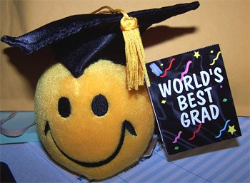 Worlds Best Grad Plush Smiley Face Doll