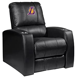 Home Theater Recliner with Los Angeles Lakers Secondary Logo by XZIPIT