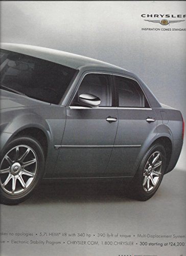 large-print-ad-for-2005-silver-chrysler-300c-let-engine-cool-before-kissing