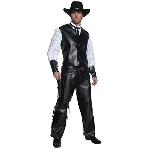 [GSG Gunslinger Costume Adult Halloween Fancy Dress] (Woman Gunslinger Costume)