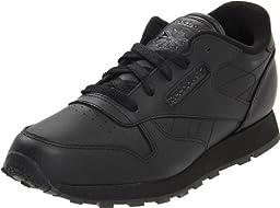 Reebok Classic Leather Shoe,Black/Black/Black,2 M US Infant