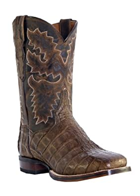 "Women's Dan Post 11"" Mary Square Toe Caiman Boots DP2852,10 M US"