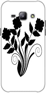 Snoogg Abstract Silhouette Of Decor Floral Elements Solid Snap On - Back Cove...