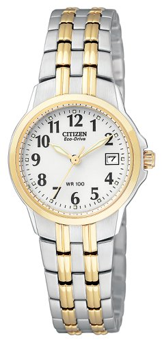 CITIZEN ECO-DRIVE EW1544-53A LADIES STEEL BRACELET STAINLESS STEEL CASE WATCH