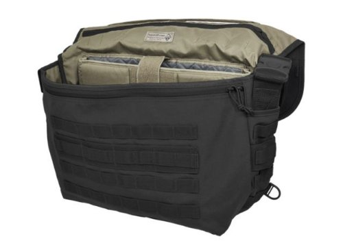 Hazard 4 Defense Courier Laptop Messenger Bag With Molle, Black front-32773