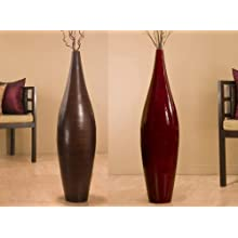 41 Inch Elipse Bamboo Floor Vase (Branches not included)