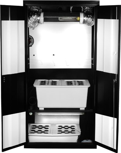 Supercloset Deluxe 600watt Co2 Ro200 Hydroponic Grow Box Closet System
