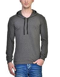 INKOVY Men's Hooded Full Sleeve Cotton T-Shirt