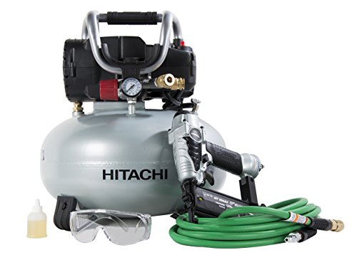 Best Price Hitachi KNT50AB Finish Combo Kit (Includes NT50AE2 Brad Nailer + EC710S Pancake Compressor)