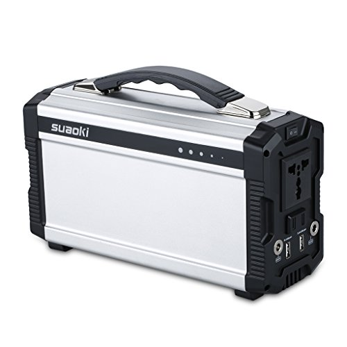 Suaoki 220Wh Portable Generator Power Supply Household Storage Lithium Ion Battery 20Ah Charged by AC Outlet or Solar Panel with Power Inverter Outputs AC 100V/110V/50Hz (Max 220Wh) USB 1A DC 12V/5A (40w Solar Panel Folding compare prices)