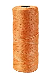 Mutual Industries 14661-145-550 Nylon Mason Twine, 1/2 lb. Twisted, 18 x 550\', Glo Orange (Pack of 6)