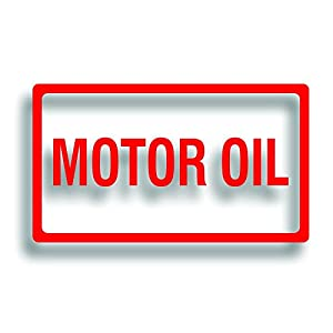 Barrel drum or pump decal label motor oil for Motor oil by the barrel