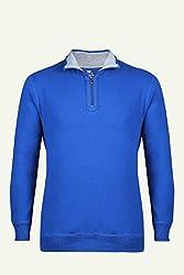 UV&W Full Sleeve Turtleneck Royal Blue Sweatshirt
