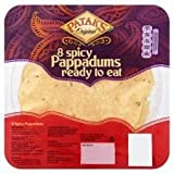 Patak's 8 x Spicy Pappadums Ready To Eat 60G