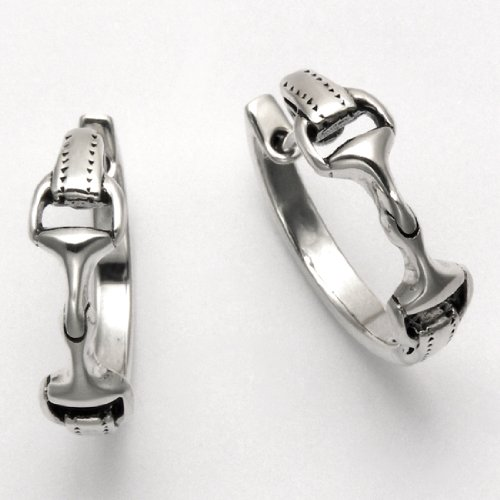 Sterling Silver Double Snaffle Bit Hoop Earrings