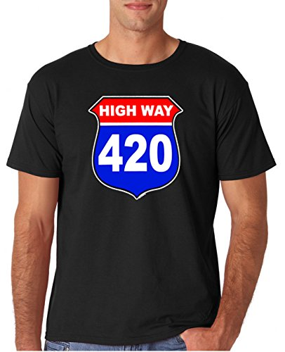 Adult-Highway-420-Marijuana-Weed-T-Shirt