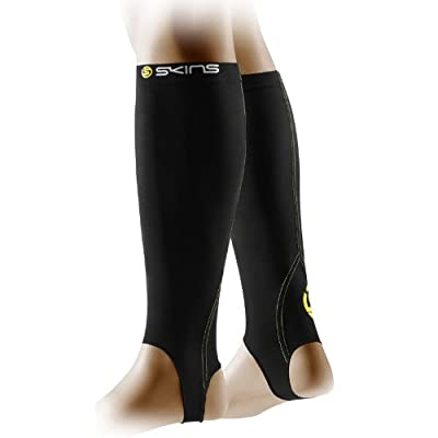 Skins A400 Series Compression Calf Tights With Stirrup Black by Skins