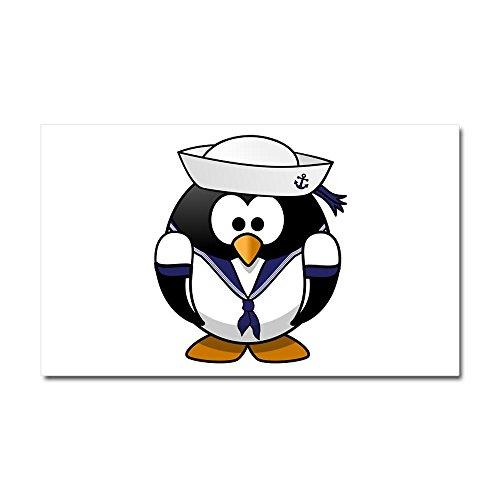 Car Magnet 20 x 12 Inch Little Round Penguin - Navy Sailor