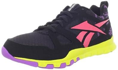Reebok Women's SubLite TR W Shoe,Black/Party Purple/Coral Contrast/Solar Green,6 M US
