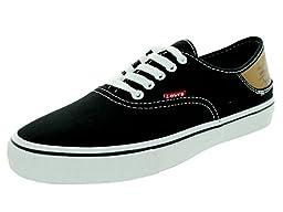 Levi\'s Men\'s Jordy Buck Black/Brown Skate Shoe 7.5 Men US