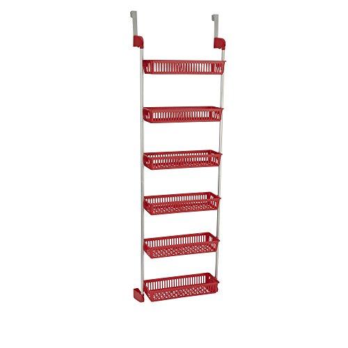 basket over the door organizer storage rack holder shelf hanging closet kitchen ebay. Black Bedroom Furniture Sets. Home Design Ideas