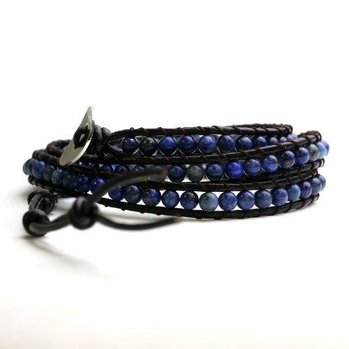 nadi ラピスラズリ ラップブレスレット 3連 Lapis Lazuli Wrap Bracelet