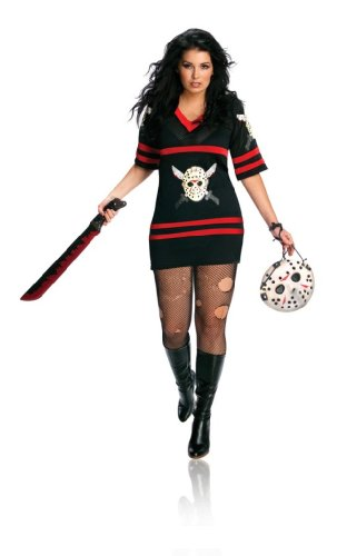 Friday The 13Th Miss Lady Voorhees Sexy Jason Costume Dress Adult Plus Size