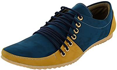 Essence 7 Lace Blue Synthetic Casual Shoes-corpus3104