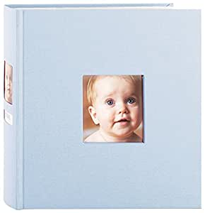 Pearhead Side Photo Album, Blue (Discontinued by Manufacturer)