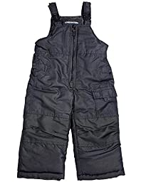 London Fog - Baby Boys Bib Snowpant, Black 34003-18Months