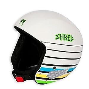 SHRED Mega Brain Bucket Helmet 2013 - Size:Large-White Lines by SHRED