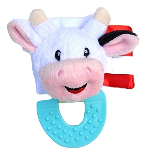 Wristy Buddy Teething Wristband, Cow