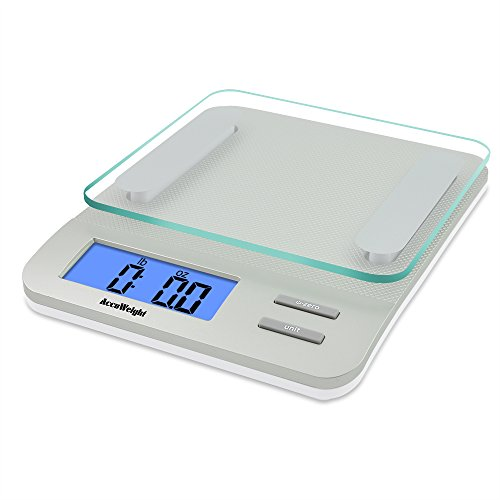 Accuweight Digital Kitchen Scale Electronic Meat Food Weight Scale, 5kg/11lb AW-KS005WS (Electronic Weight Kitchen compare prices)
