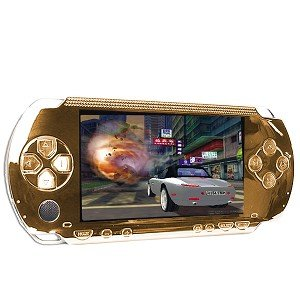 PSP Replacement Faceplate + Buttons (Gold)