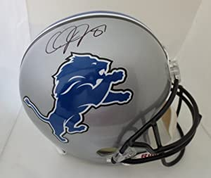 Calvin Johnson Autographed Detroit Lions Full Size Signed Helmet by Powers Collectibles