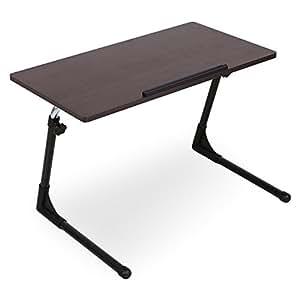 VEGA CORPORATION 折りたたみテーブル ロータイプ 木製 昇降式 ブラウン