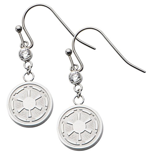 Star Wars Imperial Symbol Stainless Steel Dangle Earrings