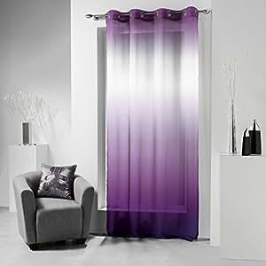 Lulu castagnette 1680179 net curtain with eyelets 140 - Chambre mauve et gris ...