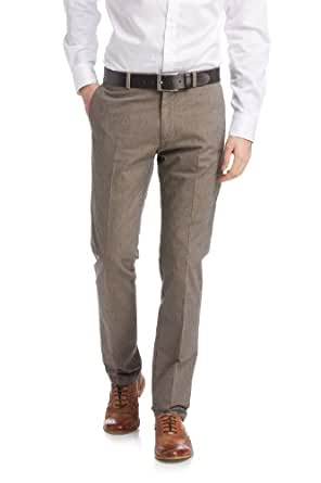 ESPRIT Collection Herren Hose 024EO2B002 Baumwoll Chino in Tow Tone Optik, Einfarbig, Gr. 102, Braun (MOCHA BROWN)