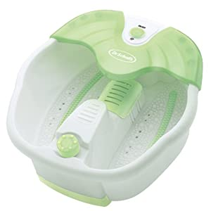 Dr. Scholl's DRFB7009B Foot Spa with Aromatherapy Dispenser (Green/White)