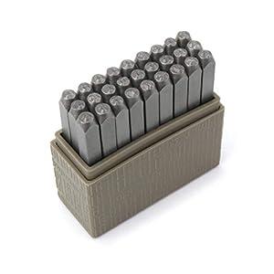ImpressArt Typewriter Font Metal Letter Stamps, 3mm Lowercase Steel Alphabet Punch Set