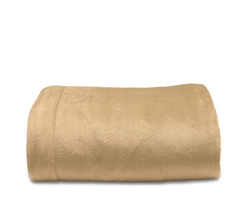 Easy Tuck Blanket, Queen, Taupe front-988767