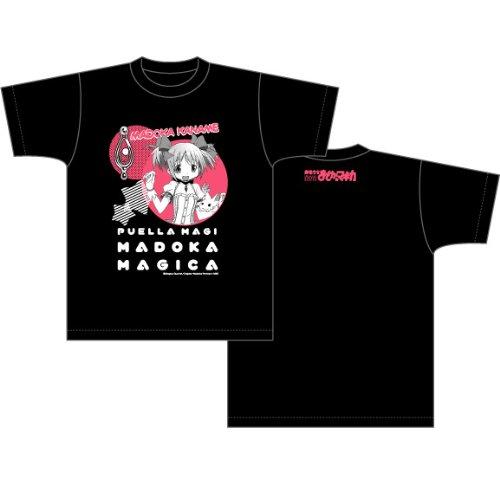 魔法少女まどか☆マギカ Tシャツ まどか柄 ブラック サイズ:M
