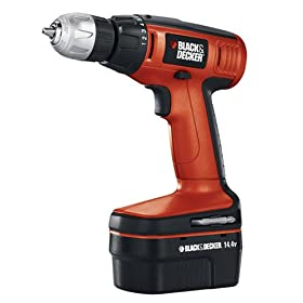 Black & Decker CDC140AK 14.4-Volt Cordless Drill Kit with Charger & Battery, Includes 30 Accessories