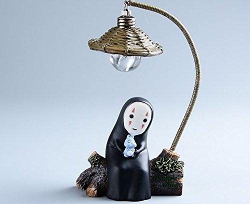 blue-elep/Japanese Kaonashi No Face LED Night Light Figure Studio Ghibli Miyazaki Hayao Spirited Away Anime Resin Action Figuras Christmas